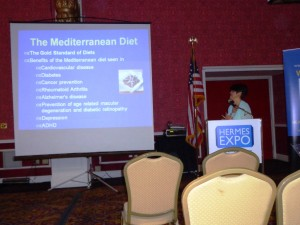 Dr Fran Zappalla presented Cretan and Mediterranean diet health facts